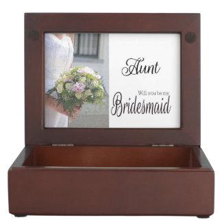 Aunt be Bridesmaid bridal bouquet Keepsake Box