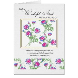 aunt birthday card - floral birthday card for aunt