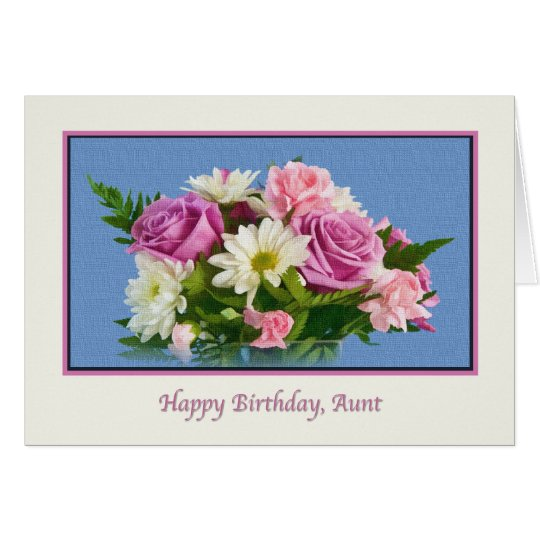 Aunt, Birthday, Floral, Roses Card