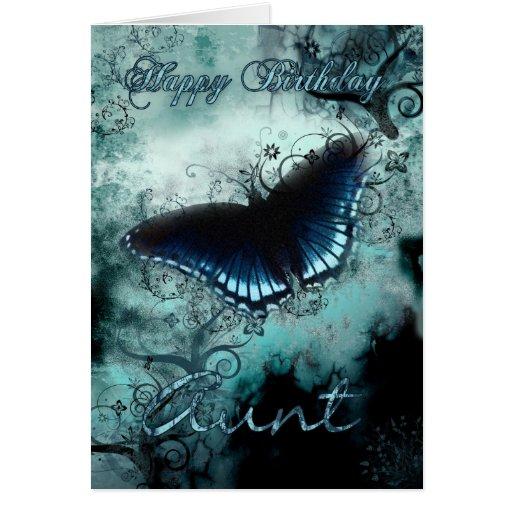 Aunt Butterfly Birthday Card - Blue Butterfly Birt