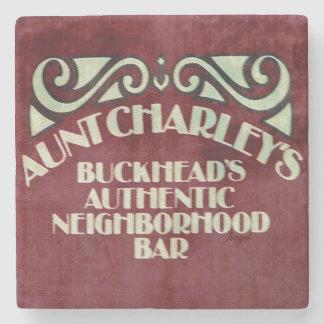 Aunt Charley's, Buckhead Atlanta Marble Stone Coas Stone Beverage Coaster