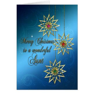 Aunt, Christmas card