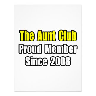 Aunt Club...Since 2008 Personalized Flyer