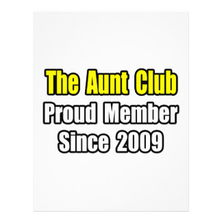 Aunt Club Since 2009 Flyers