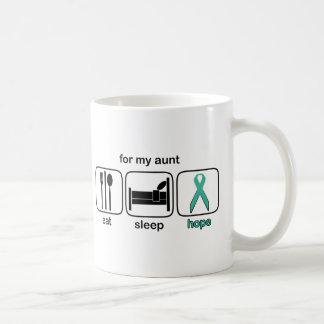Aunt Eat Sleep Hope - Ovarian Basic White Mug