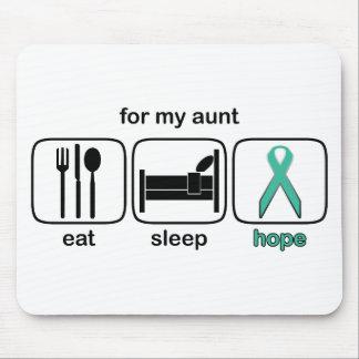 Aunt Eat Sleep Hope - Ovarian Mouse Mat