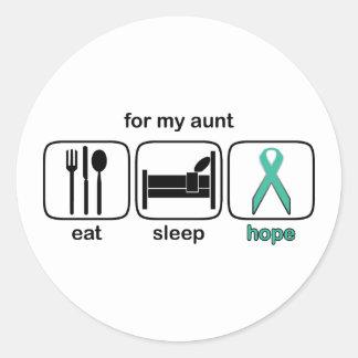 Aunt Eat Sleep Hope - Ovarian Round Sticker