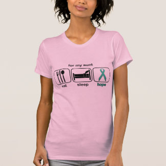 Aunt Eat Sleep Hope - Ovarian Shirt