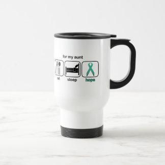 Aunt Eat Sleep Hope - Ovarian Stainless Steel Travel Mug