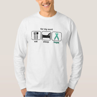 Aunt Eat Sleep Hope - Ovarian T Shirt
