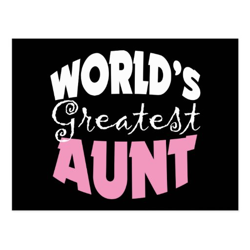 Aunt Gift Post Cards