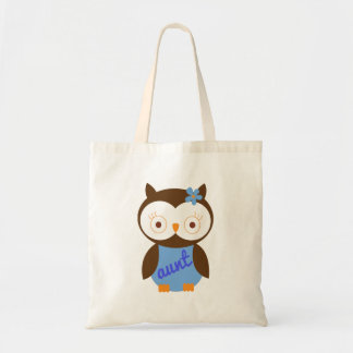 Aunt Gift With Owl Tote Bags