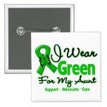 Aunt - Green  Awareness Ribbon 15 Cm Square Badge