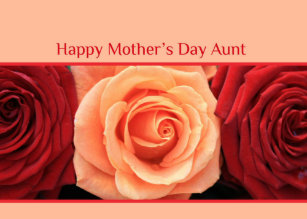 happy mothers day aunt cards zazzle uk