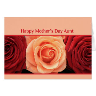 Aunt  Happy Mother's Day rose card