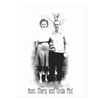 Aunt Mary-Uncle Phil Postcard