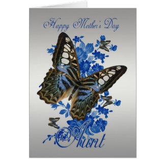 Aunt, Mother's Day Card With Butterflies
