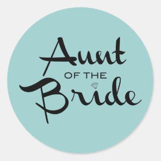 Aunt of Bride Black on Sea Sticker