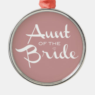 Aunt of Bride White on Mauve Christmas Ornament