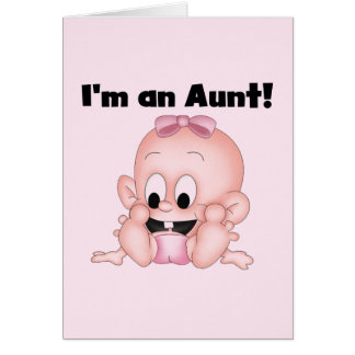 Aunt of New Niece Tshirts and Gifts Card