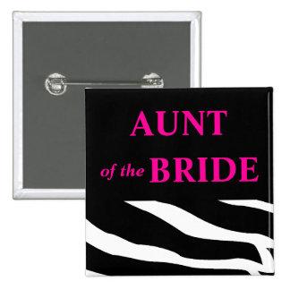 Aunt Of The Bride 15 Cm Square Badge