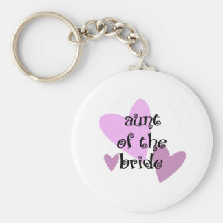 Aunt of the Bride Basic Round Button Key Ring
