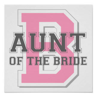 Aunt of the Bride Cheer Poster