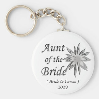 Aunt of the Bride Keychains
