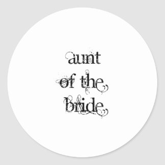 Aunt of the Bride Round Sticker