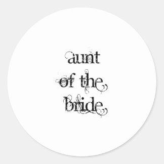 Aunt of the Bride Round Stickers