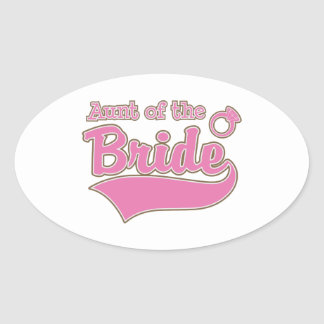 Aunt of the Bride Oval Sticker