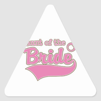 Aunt of the Bride Triangle Sticker
