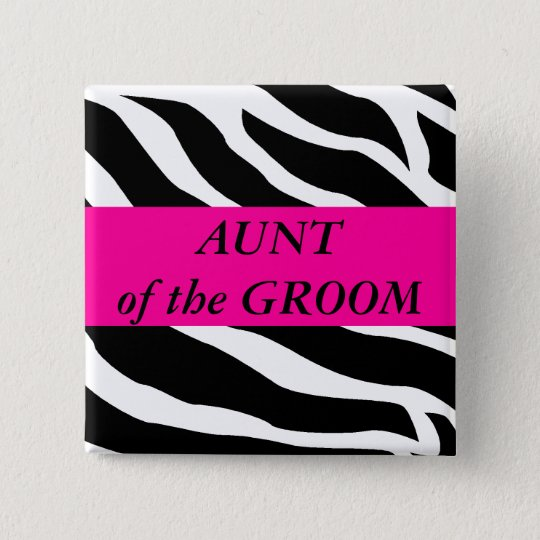 Aunt Of The Groom 15 Cm Square Badge