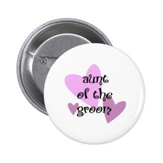 Aunt of the Groom 6 Cm Round Badge