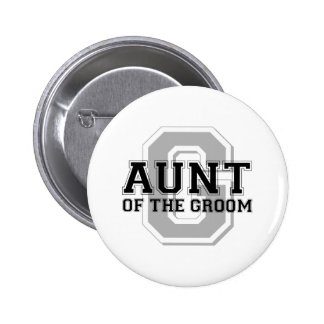 Aunt of the Groom Cheer 6 Cm Round Badge