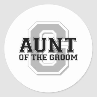 Aunt of the Groom Cheer Stickers