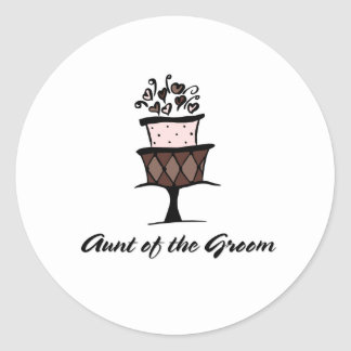 Aunt of the Groom  Round Sticker