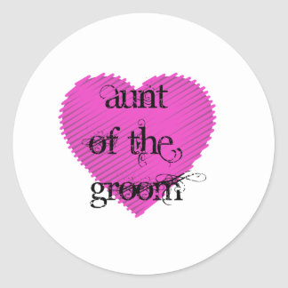 Aunt of the Groom Round Sticker