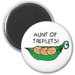 Aunt of Triplets Pod Refrigerator Magnet