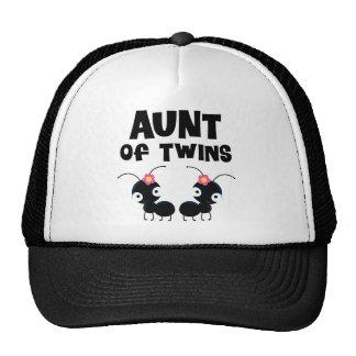 Aunt of Twin Girls Cap