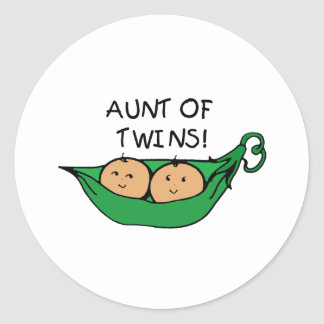 Aunt of Twins Pod Sticker