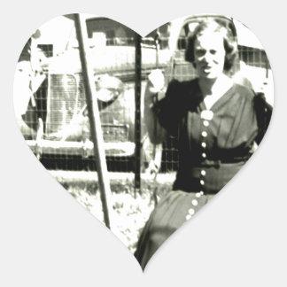 Aunt On Swings Heart Sticker