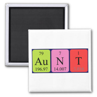 Aunt periodic table name magnet