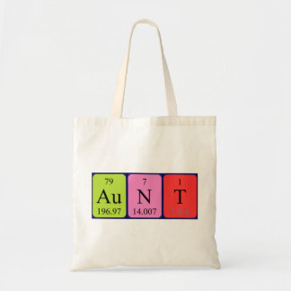 Aunt periodic table name tote bag