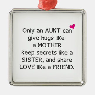 Aunt Quote Christmas Ornament