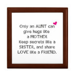 Aunt Quote Large Square Gift Box