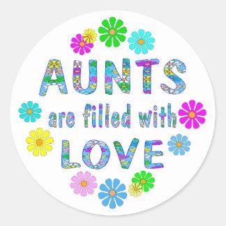 Aunt Round Sticker