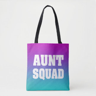 Aunt squad women's tote bag
