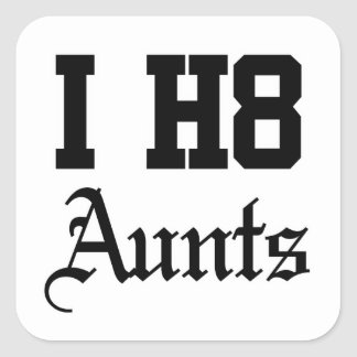 aunt square sticker