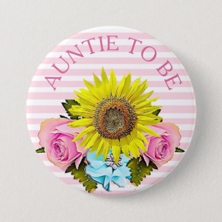 Aunt to be Baby Shower button